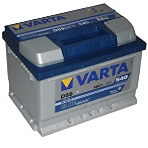 varta d59 dynamic autobatterie batterie 60ah super. Black Bedroom Furniture Sets. Home Design Ideas