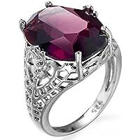 jindarat Huge Natural 6Ct Alexandrite Ring 925 Silver Bridal Wedding Engagement Size 6-10 (7)