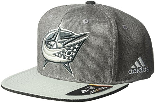 fan products of NHL Columbus Blue Jackets Adult Men Pro Authentic Travel & Training Snapback, One Size, Gray