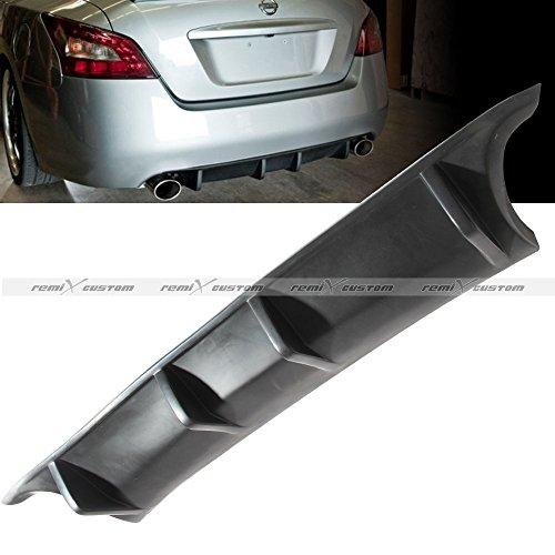 Custom Lip Spoiler - Rear Diffuser for 2009 2010 2011 2012 2013 2014 2015 Nissan Maxima Rear Body Kit Shark Fin Diffuser Bumper PU Lip Spoiler by REMIX CUSTOM