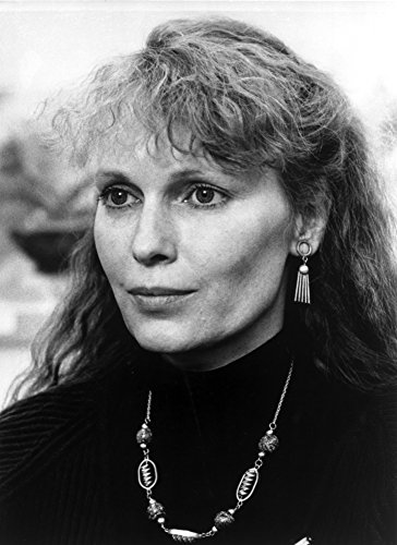 Posterazzi Poster Print Collection Mia Farrow Portrait Wearing Black High Neck Blouse with Necklace Photo, (8 x 10), Multicolored - Mia Print Blouse