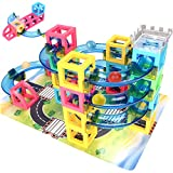 JOYNOTE Magnetic Blocks with Marble Run Game - 32pcs STEM Learning Toy for kids, Construction Child Education Track Building Blocks (Storage Bag Include)