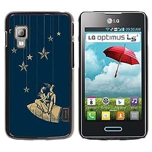 TopCaseStore / la caja del caucho duro de la cubierta de protección de la piel - Stars Space Dream Rocket Theatre - LG Optimus L5 II Dual E455 E460