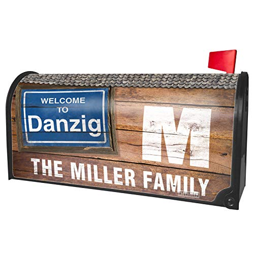 NEONBLOND Custom Mailbox Cover Sign Welcome to Danzig -