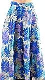 Belle Badgley Mischka Womens Jacquard Floral Full Skirt Blue 8