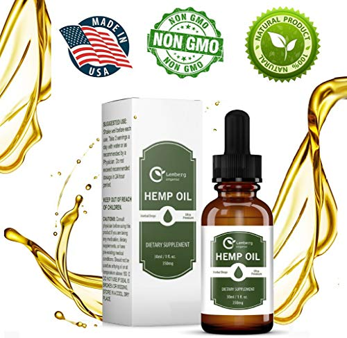 Hemp Oil Drops for Pain Anxiety Relief All Natural Organic Pure Full Spectrum Hemp Extract Supplements for Stress Sleep That Help