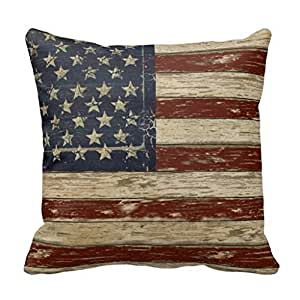 Amazon Com Old Glory Throw Pillow Case 18 X 18 Quot Standard