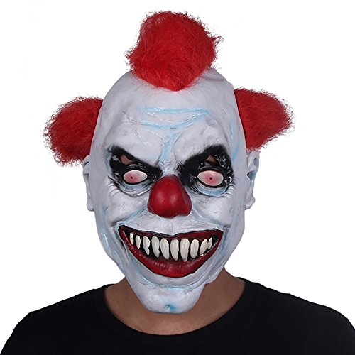 (Yxsd Clown Mask Male Halloween Adult Latex Head Cover Funny Wholesale Custom Horror Clown)