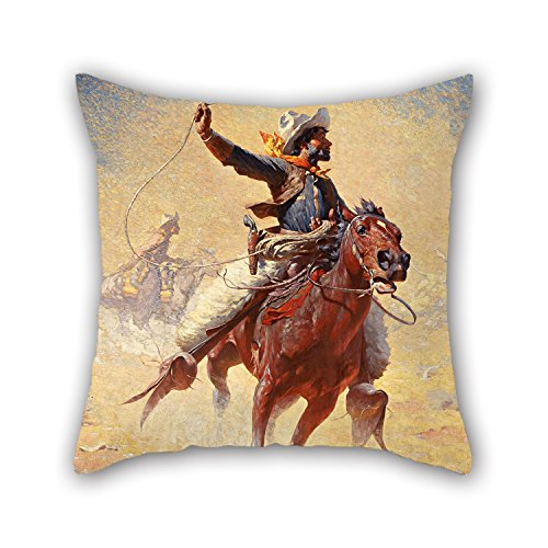 oil-painting-william-robinson-leigh-the-roping-pillowcover-16-x-16-inch-40-by-40-cm-gift-or-decor-fo