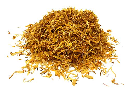 Calendula Petals - Pure Dried Marigold Flower Petals - Vegan | Gluten Free | Non-GMO | No Sugar Added - Net weight: 0.35oz / 10g - Calendula officinalis