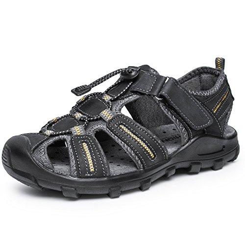 Xing Lin Sandalias De Hombre Cuero Verano Hombre De Calzado De Playa De Moda Casual Hombres Transpirable Sandalias Tendencia Exterior Fondo Blando De Hombres Zapatillas gray