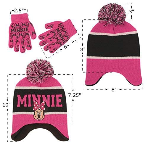 Amazon.com: Disney Little Girls Minnie Mouse Hat and Glove Cold Weather Set, Age 4-7: Clothing