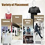 Giantex Female Mannequin Dress Form Display Manikin Torso Stand Realistic Metal Stand Plastic Detachable Clothing Full Body Mannequin W/Base White 5.8 FT