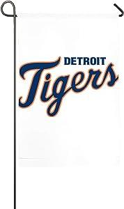 N-A Detroit Mascot Tiger Garden Flag, Double Sided Garden Outdoor Yard Flags for Garden Decor (12.5x18/18