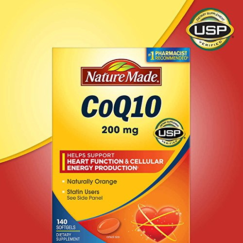 Nature Made CoQ 10 Liquid Softgels Naturally Orange 200 mg Value Size -140CT (200 Liquid Softgels)