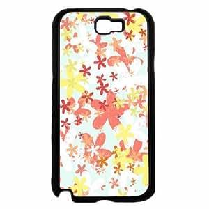 Brush Flowers TPU RUBBER SILICONE Phone Case Back Cover Samsung Galaxy Note II 2 N7100 Kimberly Kurzendoerfer
