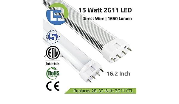 15 Watt 2G11 PLL LED 4-Pin Direct Wire Retrofit Tube 4000K ...