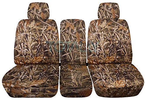 Totally Covers Fits 2009-2010 Ford F-150 Camo Truck Seat Covers (Front 40/20/40 Split Bench) with 2 Headrests & Opening Center Console/Solid Armrest: Wetland Camouflage (16 Prints) F-Series - Camo 2009