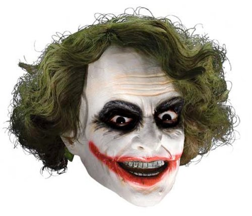 Joker Girl Halloween Costume (Batman The Dark Knight The Joker Child Mask with Hair (Colors may vary))