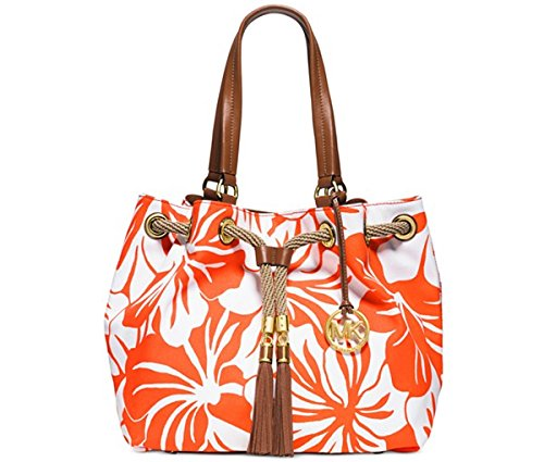 Michael Kors Marina Large Gathered Tote CLEMNTE/GOLD