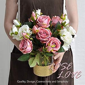MZjJPN Artificial Flower Acacia Rose Fake Silk Flower DIY Wedding Decor for Home Christmas Supplies Silk Hand Flower Rose 37cm 9 Colors 30