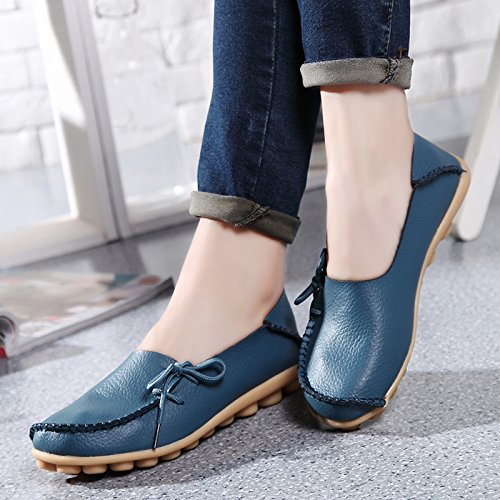 Loafer Office Comfort Blue VenusCelia Walking Women's Flat n8w7zX6BXq