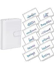Ctzrzyt A6 PU Lederen Notebook Magnetische Persoonlijke Planning Binder Met 12 Binder Zakken Binder Rits Map voor Bill Planner A
