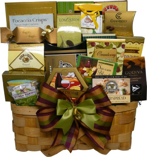 Art of Appreciation Gift Baskets Super Snack Sampler Gourmet Food Basket with Smoked Salmon (Candy)