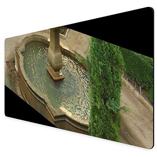 Mouse Pad Rectangle Mouse Pad Alhambra Fountain Spain Granada Garden Moorish #338588 Bumper 260mm210mm3mm ()