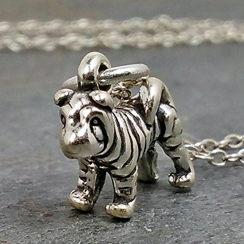 Tiny Shar-Pei Necklace - 925 Sterling Silver