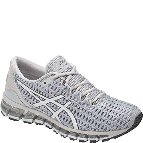 ASICS Women's Gel-Quantum 360 Shift Running-Shoes, Glacier Grey/White/Carbon, 6.5 Medium - Shift Carbon