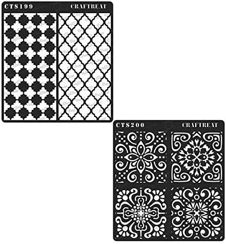 CrafTreat Flourish Stencil 1 /& 2 6X6