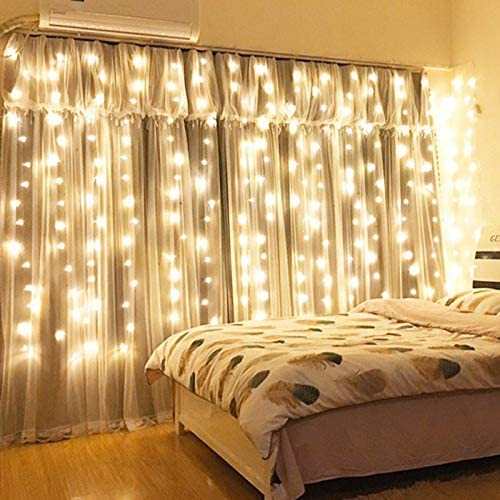 Window Curtain String Light 300 Led Usb Powered String Lights Wedding Party Home Garden Bedroom Outdoor Indoor Wall Decorations Warm White 9 8x9 8 Ft Home Improvement