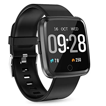 993efa785e スマートウォッチ スマートブレスレット Tigerhu 万歩計 腕時計型【2019年最新版 1.3