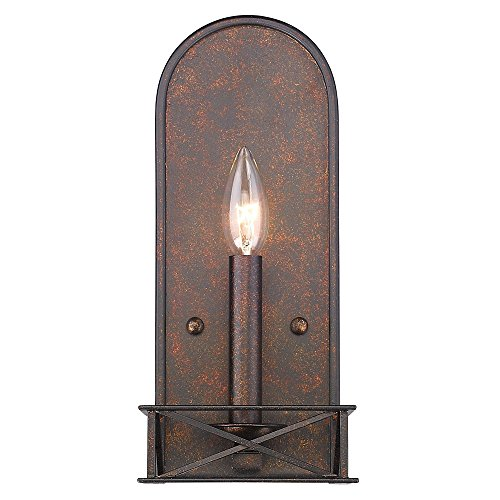 Golden Lighting 5815-WSC FB Gateway - Two Light Wall Sconce, Fired Bronze (Butler 1 Light Sconce)