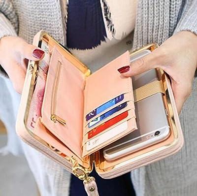 Women Bowknot Wallet Long Purse Phone Card Holder Clutch Large Capacity Pocket