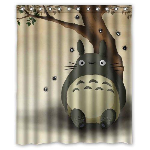 "abigai Generic My Neighbor Totoro Custom Printed Waterproof fabric Polyester Bath Curtain Bathroom Decor Shower Curtain72""(w) x 72""(h)"