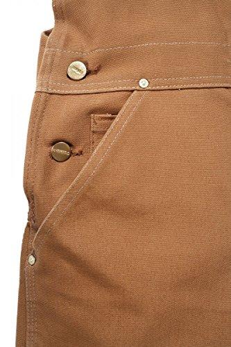 W38 Salopette de L34 Carhartt Duck travail Carhartt Bib Workwear Brown Noir R01 IBR8RO