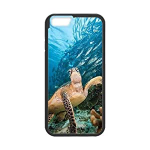 LIULAOSHI Sea turtle Phone Case for iphone6 Black [Pattern-4] by Maris's Diary