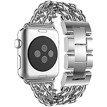 For Apple Watch Band 42mm, Aottom iWatch Band 42mm Cowboy Chain Stainless Steel Replacement Band