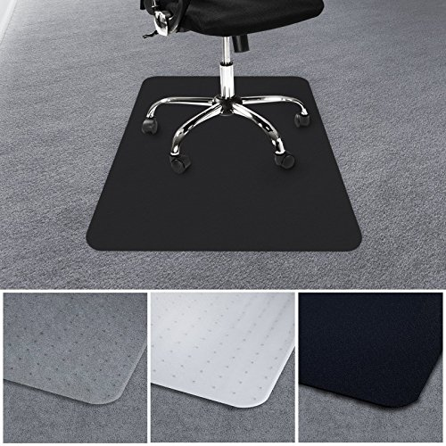 casa pura Office Chair Mat for Carpets | Floor Protector for Office and Home Desk Chairs | 100% BPA, Phthalate & Odor Free | Black | 36'' x 48'' by casa pura