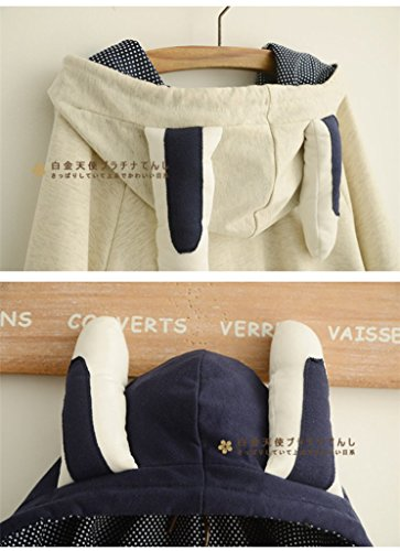 Aza Boutique Girl's Cute Cotton Blend Rabbit Ears Hooded Cape