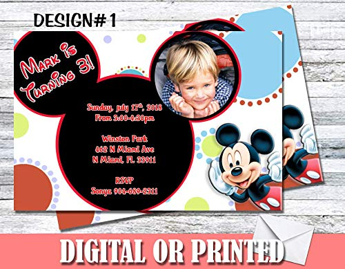 Mickey Mouse Personalized Birthday Invitations More Designs Inside! -