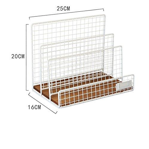 3 Shelf Stacking Bookcase - Rart Mesh Desk Tidy Organizer,Book Shelf Storage Rack Stacking Desk Tray 3 Storage Compartment Letter Trays Magazine Rack File Sorter Organizer-White 25x16x20cm(10x6x8inch)
