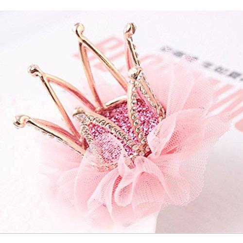 Girls Diamond Crown Hair Pin Princess Flower Hair Clips Rhinestone Crystal Tiara Kids Party Hair Accessory
