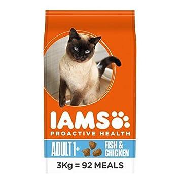 IAMS Adult Comida para Gatos Seca Ocean Fish y 3 kg de Pollo: Amazon.es: Jardín
