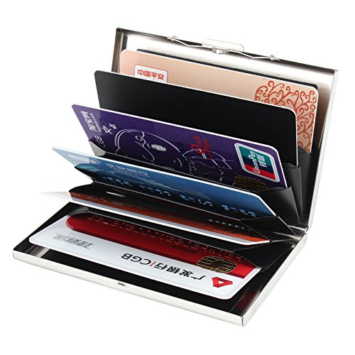 Kinzd® Ultra Thin Aluminum Metal Wallet RFID Blocking Credit Card Holder Case