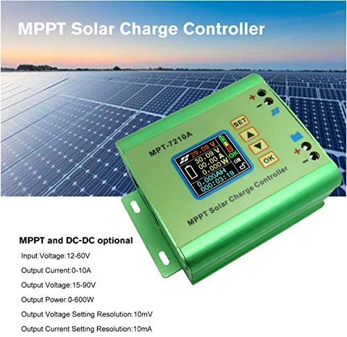 Goldyqin MPT-7210A Farb-LCD-Display MPPT Solarpanel-Laderegler 24/36/48/60 / 72V Boost-Solarbatterie-Regler