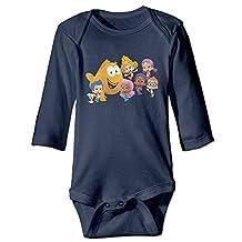 Bubble Guppies Logo Cute Baby, Unisex Long Sleeve Jumpsuits Cotton