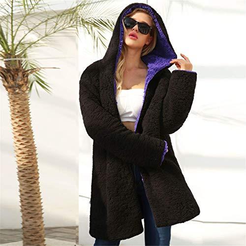 Laine à Ensemble Un Manches Veste Violet Dichroic Parka Chaud Manteau Automne Park Outwear la Winter Hiver Femmes Top mode Parka Longues Artificielle Casual Sweat Zxw0zqa5Ww